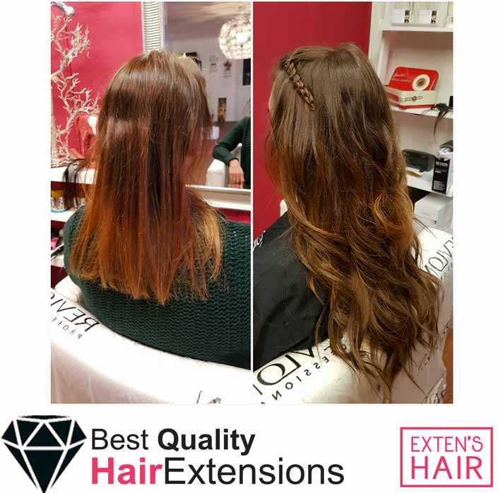 Extensions Tape Hair Cheveux châtain