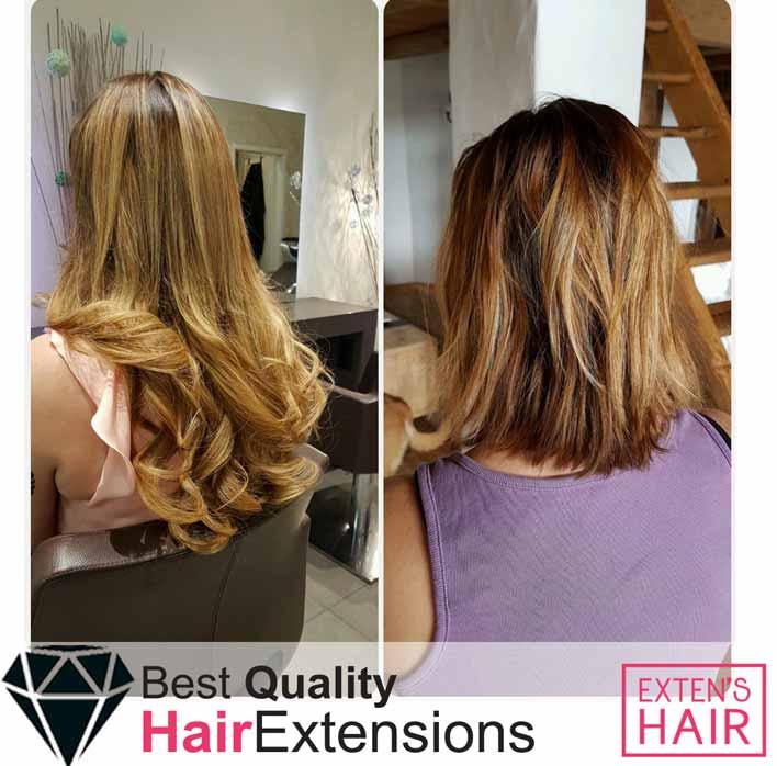 Extensions kératine cheveux naturels