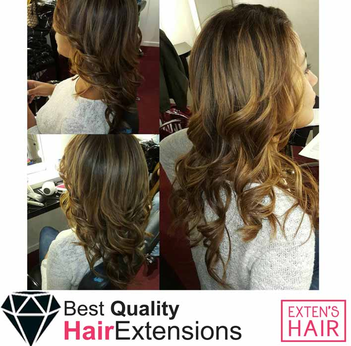 Extensions Tape Hair Cheveux Naturel Chatain Clair