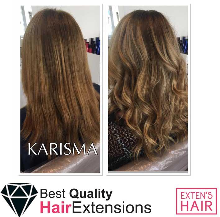 Extensions de cheveux à chaud Kératine couleur des mèches noisettes