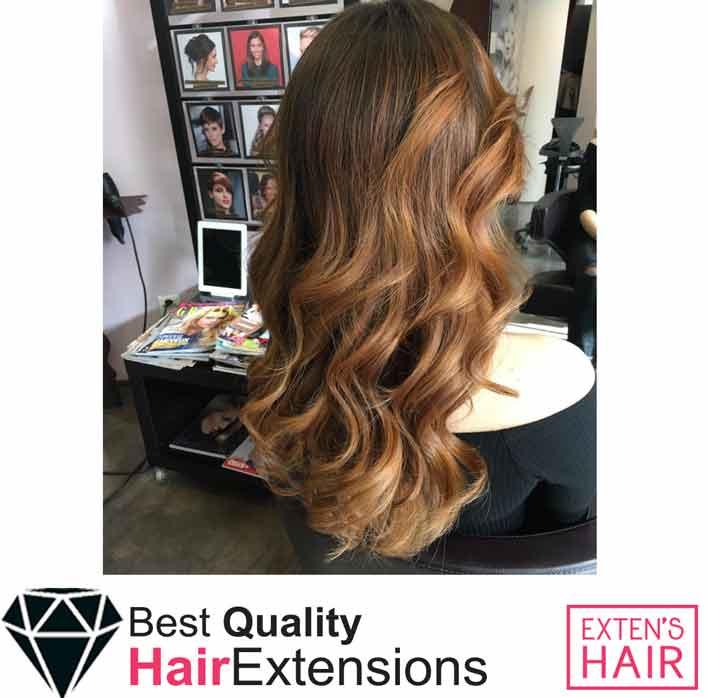 Extensions en bandes adhésives remy hair châtain clair