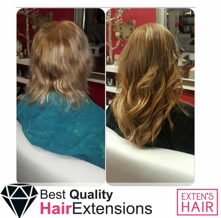 Extensions adhésives Cheveux châtain clair