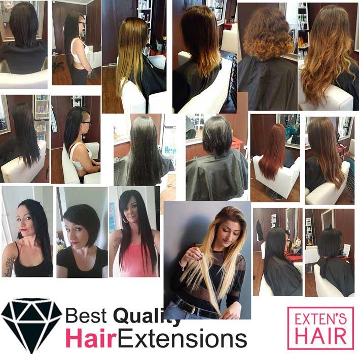 extensions adhésives cheveux noirs naturels