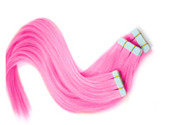 extensions cheveux roses