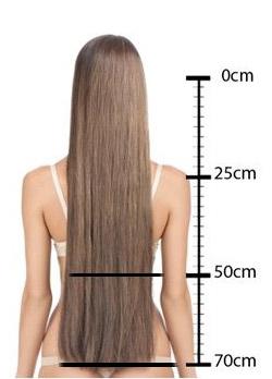 longueur des extensions de cheveux