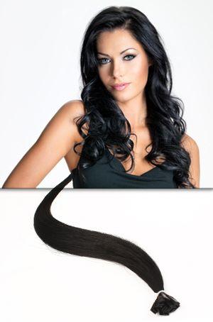 Extension cheveux foncé