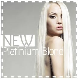 L'extension de cheveux Blond Platine ultra White